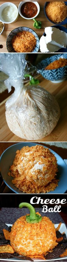 Easy Cheese Ball Appetizer! Great for a Halloween Appetizer!