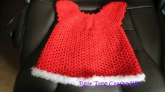 Christmas Baby Dress with Fluffy Trim
