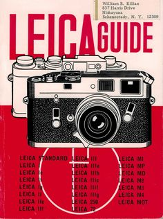 Leica Guide W D Emanuel 1970 Camera Photography Book 41st ed Focal Amphoto