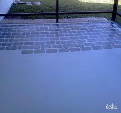 Faux Brick, Brick Patios, Concrete Floors, Front Porches, Bricks, Paint  Ideas, To Share, Stairs, Garden Ideas