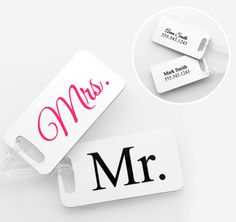 Personalized Mr. & Mrs. Luggage Tags