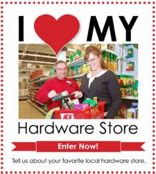 Do you love your local independent hardware store? Tell us why and you could win a $250 gift card to your favorite store! Enter here: http://www.planitdiy.com/community-news/i-love-my-local-hardware-store-contest/#