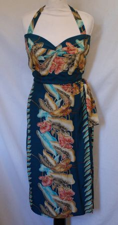 1950s vintage inspired repro rayon Hawaiian sarong by OuterLimitz, £85.00