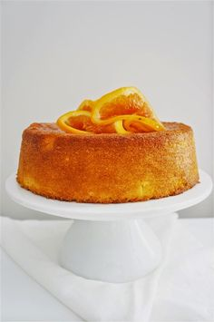 Flourless Orange and Almond Cake less sugar. Subs maple sugar.