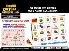As frutas em alemão (die Früchte auf Deutsch) - Alemão com vídeos + Dicas para aprender vocabulário novo (Deutsch mit Videos + Tipps zum Vokabeln lernen)
