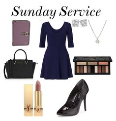 """""""Sunday Service"""" by shayshayv ❤ liked on Polyvore featuring Miss Selfridge, Charles by Charles David, MICHAEL Michael Kors, Protec, Yves Saint Laurent, Kat Von D and Forzieri"""