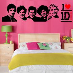 One Direction Room Decor | Details about ONE DIRECTION wall art vinyl room sticker transfer decal ...