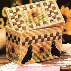 Sunflower Recipe Box Plastic Canvas Pattern