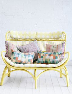 Booie and Ben. Furniture. Rattan Slouch Couch. Natural.
