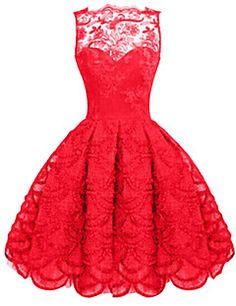 Cheap vestidos f, Buy Quality vestidos fashion directly from China women lace dress Suppliers: Sexy Women's Lace Dress 2016 Fashion O-neck Sleeveless High Waist Perspective Dresses Solid Color Flounced Hem Slim Vestidos Red Skater Dress, Red Sleeveless Dress, Short Lace Dress, Dress Red, Dress Lace, White Dress, Bodycon Dress, Vintage Red Dress, Vintage Dresses