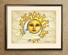 Dan Morris, Art Calendar, Chicken Art, Great Wedding Gifts, Tapestry Wall Hanging, Fine Art Paper, Art Boards, Watercolor Art, Sun Moon