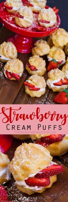Strawberry Cream Puffs - Tatyanas Everyday Food