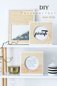DIY Wooden Passepartout Frames