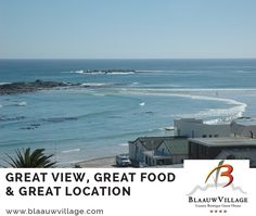 Overlooking Small Bay beach in Bloubergstrand, Blaauw Village Boutique Hotel is within 10 minutes' walk Big Bay surfing beach! Big Bay, Luxury Accommodation, Boutique, Great View, Cape Town, Location, Surfing, Photo And Video, Videos