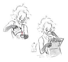 Morning routine.