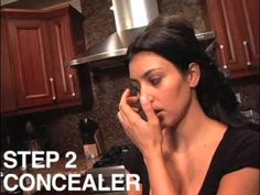 Kim Kardashian with Makeup Artist Stephen Moleski show us a pink and purple smokey eye look, Straight from her kitchen!  In this part one, They show you how to do the foundation and blush.  Look out for part two for the smokey eyes.