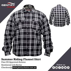 """✔️ Motorcycle Riding Men Bikers Flannel Reinforced Shirt Black & White ✔️ High Quality, Lowest Prices and Fast Delivery 🌐 Shop now @ """"Gentry Choice"""" Biker Shirts, Mens Flannel Shirt, Motorbike Jackets, Motorcycle Jacket, Black Check Shirt, Biker Wear, Smart Men, Line Shopping"""