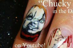 Nail-art by Robin Moses - Chucky