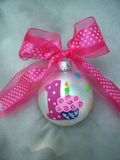 Birthday Cupcake Number One christmas ornament