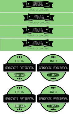 Rótulo para sabonete Artesanal - Baixe Grátis