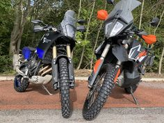 KTM 790 Adventure or Yamaha Tenere Our friends at Motorcycle News are putting these two middleweights head-to-head on TKC 80 rubber to see who comes out on top! Who do you think will win this fight? Motorcycle News, Trekking, Cars And Motorcycles, Yamaha, Adventure, Friends, Vehicles, Top, Amigos