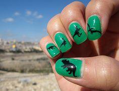 Dinosaur nails.