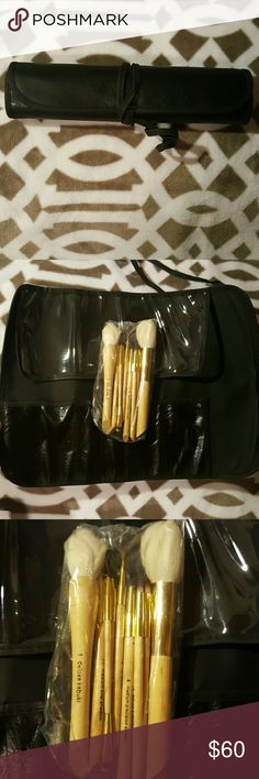 Crown Brush Hautelook Exclusive 10pc Pro Brand new Crown Brush Hautelook Exclusive 10pc Pro Set with Roll up Case Crown Brush Makeup Brushes & Tools