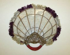 Fan Date: Culture: Burmese Medium: silk, paper, mica Dimensions: Length: 10 in. cm) Credit Line: Gift of Mr. Beaumont Newhall, 1943 Accession Number: Not on view Antique Fans, Vintage Fans, Hand Held Fan, Hand Fans, Vintage Closet, Vintage Vanity, Burmese, Museum Collection, Art Object