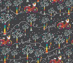 Candy Yarn Bomb Night fabric by cynthiafrenette on Spoonflower - custom fabric