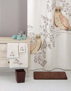 Better Homes and Gardens Owl Shower Curtain Owls in 2019 Owl owl bathroom decor - Bathroom Decoration Owl Bathroom Decor, Owl Kitchen Decor, Owl Home Decor, Bathroom Colors, Bathroom Ideas, Owls Decor, Bathroom Small, White Bathroom, Shower Curtains Walmart