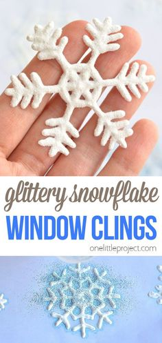 These snowflake window clings are so easy to make and they end up looking so pretty! They're a great Christmas decoration that can be left up all winter! If you or your kids love crafts, then you have to try making these! This is definitely one of my very favourite crafts! All Things Christmas, Christmas Holidays, Christmas Ideas, Christmas Crafts, Winter Activities, Stem Activities, Activities For Kids, Easy Crafts For Kids, Projects For Kids