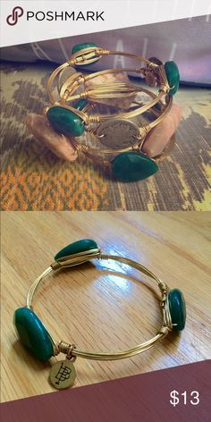 Bourbon & Bowtie Bangle (Green) This listing is for the beautiful jade green…