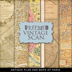 New Freebies Kit of Antique Plan And Maps of Paris