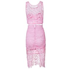 Emma 2 Piece Pink Floral Lace Dress - Two Pieces Dresses - Dresses