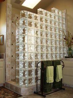 Glass Block Shower - Lawson Construction - Bathroom