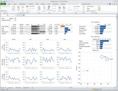 Business Intelligence data dashboard by BonaVista Chart Tamer for Excel