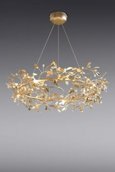 Blossom 9 Light Gold Finish Chandelier Inspired by the laurel leads of the.,Blossom 9 Light Gold Finish Chandelier Inspired by the laurel leads of the Grecian Goddesses, this stunning round blossom chandelier, will light . Ceiling Lights Uk, Gold Ceiling Light, Ceiling Chandelier, Gold Chandelier, Gold Light, Ceiling Pendant, Room Lights, Chandeliers, Luxury Chandelier