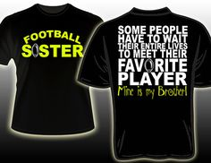 Favorite Football Player is my brother by DaddyRabbitGraphics, $23.00