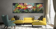Love bringing the outdoors  inside with my art! Frames On Wall, Framed Wall Art, Flower Power, Framed Art Prints, Wall Art Prints, Flower Wall Decor, Home Decor Items, Decorative Items, Love Seat