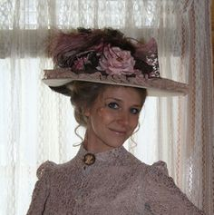 Recollections: Pink and Mauve Wide Brim Hat