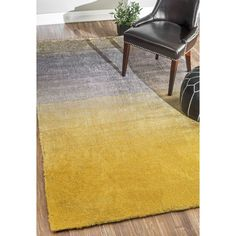 Bier Hand-Tufted Yellow Area Rug