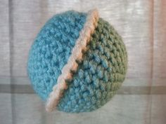 Crochet Planet Uranus, Space Solar System, Stuffed Plush Geek Toy, Made to Order
