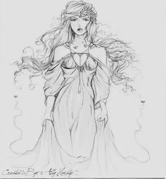 Redone off another Aphrodite drawing --->Done By: Ally Haraty