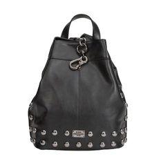 2cf29e0593 Elena Athanasiou - Black n' Metal Black Silver - Black Backpack, Leather  Backpack,