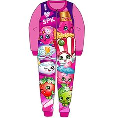 Girls Shopkins Fleece Onesie