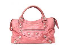 Authentic Balenciaga Giant City Bag Pink Lambskin Leather #Balenciaga #ShoulderBag