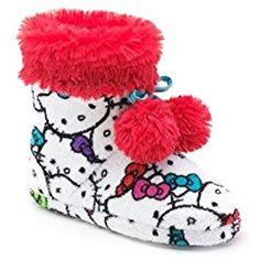 Hello Kitty Merchandise, Hello Kitty House, Hello Kitty Accessories, Girls Slip, Fur Boots, Sanrio, Cool Art, Coin Purse, Slippers