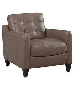 Mia Leather Living Room Chair - Chairs & Recliners - furniture - Macy's
