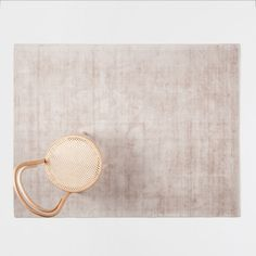Image of the product Brown viscose rug