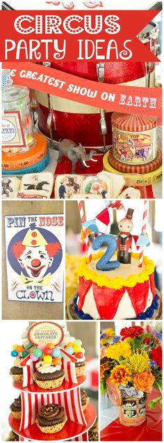 This circus birthday has great vintage details! See more party ideas at CatchMyParty.com!